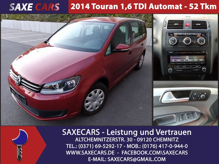 Volkswagen Touran AUTOMATIK DSG*KLIMA*PDC*AHK*52 tkm